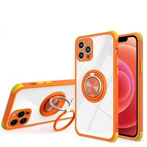 Phone Case with Double Finger Rings Anti Shock conners protective Cases For Samsung Galaxy A70 A32 A50 A50S A21 A11