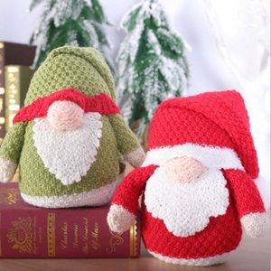 Christmas knitting wool Rudolph ornaments xmas decorations bells dwarf dolls LLE9972