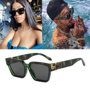 Óculos de sol milionário de moda milionário quadrado grande enorme quadro vasos decorativos retro óculos homens vendedores tons