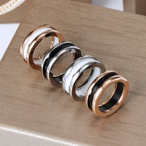 2021 titanium steel ceramic ring men and women silver rose gold spring jewelry couple wedding lovers gift