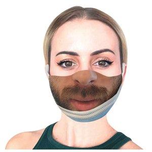 Mascarillas Adult Prank Women Man Print Masqu Funny Face Adjustable 1pcs e Halloween Cosplay Cubrebocas JW9W