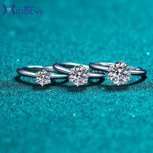 Have stamp 925 sterling silver claw 1-3 karat diamond rings moissanite womens engagement wedding sets pandora style jewelry gift 1007 Q2