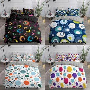 Colorful Dots Pattern Printed Bedding Set Nordic Geometry 240 220 Duvet Cover With Pillowcase Queen King Bed Linen NO Sheet Sets