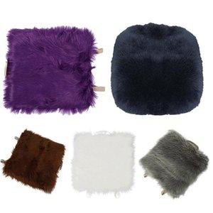 Seat Cushions Faux Sheepskin Car Home Cushion Pad Cover Warm Mat