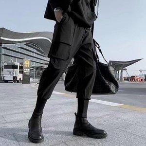 Мода уникальные черные брюки для мужчин карандаш Harem Techwear Streetwear Harajuku корейская одежда Joggers работают мужские