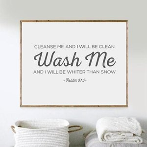 Bible Verse Print Wall Pictures , Scripture Poster Canvas Painting Laundry Room Art Decor QZ8T