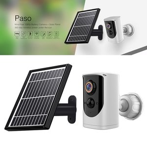 1080P EKEN Paso Wireless WiFi ip Camera Solar Panel Rechargeable Battery PIR Motion Two Way Audio Outdoor Security Cameras for home safe