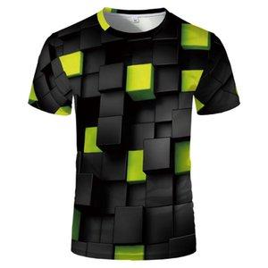 الرجال القمصان الصيف تيز 3d نمذجة هندسية شخصية الإبداعية عارضة الرياضة قمصان مضحكة