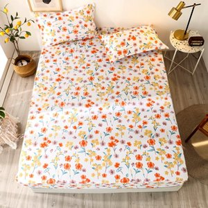 Sheets & Sets Bonenjoy 3 Pcs Sheet On Rubber Band With Case Little Flower Reactive Printed Fitted Queen Size Bed Set