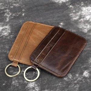 New Retro PU Leather Bank Card Passport bag Mini Card Wallet Men Business ID Credit Card Holder Cards Pack Cash Pocket C139 C0305