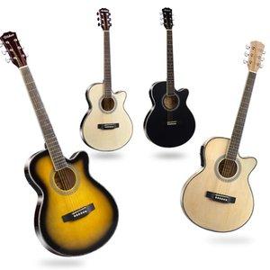 40 inch basswood guitar ultra-thin barrel electric box acoustic gu itar jita beginners become folk guitarr EQ g uitar freeshipping