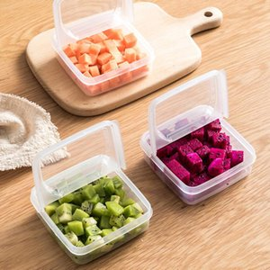 Bowls 2PCS Transparent Storage Container Leak Proof Fruits Box Organizer For Cheese Kitchen Onion Ginger Garlic