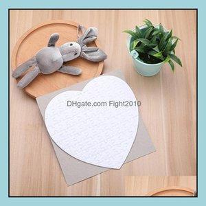 Other Supplies Office School Business & Industrialheart Shape Sublimation Blank 75Pcs Diy Craft Heat Press Transfer Crafts Jigsaw Puzzle Dro