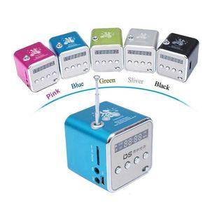 TD-V26 Mini Altavoz portátil Multi-Colors LED FM Radio Estéreo USB MUSICA MP3 Player LCD Pantalla Subwoofer SD / TF