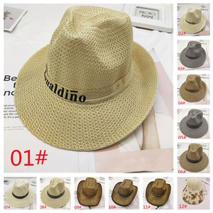 Wide Brim Hat man summer cowboy sunscreen straw unshade the elderly outdoor hats Suitable for spring