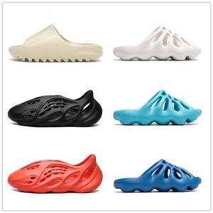 2021 Kanye Slides Slippers Women Men Slipper Size 36-47 Foam Black Bone White Resin Solid Slide Sandal Desert Sand Triple Fashion