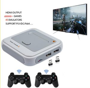 2.4G Wireless Game Player 40000 Retro PS1 NES GB Games Support Wifi Lan 4K Media TV Box Gaming Consoles Portable Players