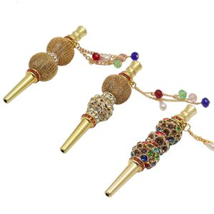 Accessories Arab Handmade with Diamond Cigarette Holder Creative Metal Pendant Hookah