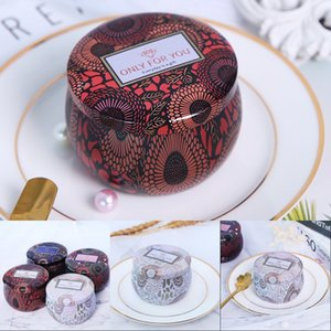 Scented candle jar empty round tinplate can DIY handmade candle tea food candy tablet accessories storage box with lid 648 S2