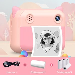Digital Cameras Children Camera Instant Print For Kids 1080P HD With Po Paper Child Toy Birthday Gift
