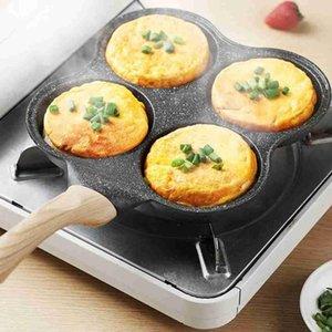 Pans Four-mold Fried Egg Burger Non-stick Household Mini Pan Mold Dumpling Artifact