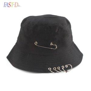 2021 Yeni Moda K Pop Demir Yüzük Kova Şapka Popüler Stil Hip Hop Kap 100% El Yapımı Yüzükler Adam Kadın Bahar Rahat Balıkçı Şapka