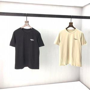 2021SS Primavera ed estate T Shirt T-shirt in cotone di alta qualità Manica corta Collo t-shirt T-shirt T-shirt T-shirt Dimensioni: S-M-L-XL-XXL Colore: Black White # A17