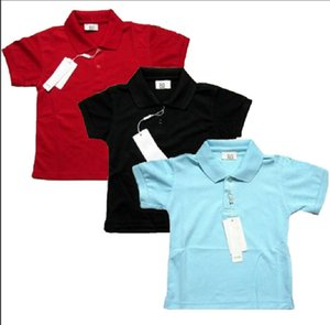 Kids Polo T-Shirt For Summer Children's Clothes Crocodile Embroidery Short Sleeve Baby Polos Shirt Tops Tees Girls Boys