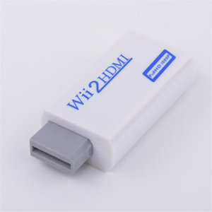 White Wii to HDMI Adapter WII2HDMI Converter 1080P 720P Connector Output Video with 3.5MM Audio and HDMI Cable