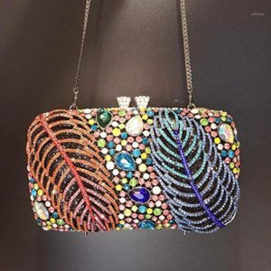 New Luxury Handbags Women Bags High Quality Newest Crystal Diamond Chain Evening Bag Female Prom Purse Bridal Shoulder Bag gift1