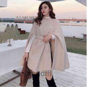 Средняя длина высококачественный шерстяной шаль накидка накидка Pooncho Part Женщины 2020 Весна осень Новый Корейский мода Элегантные Дамы Кейпты Cape A107x1020