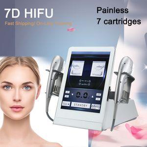 Professionnel 7D HIFU Ultrasound HIFU FIGHTASEND FILETHU FACE CORPS MINGMING MMFU Machine avec 7 cartouches pour le visage et le corps