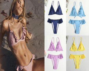 Bikini Split Dreiecksack Nylon Feste Farbe Sexy Explosionsmodelle Bikini Topless Dreiecksack Sexy Bikini