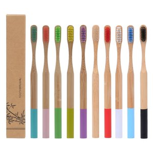 Natural Bamboo Toothbrush Wood Bamboos Soft Bristles Eco Fibre Wooden Handle Toothbrushs For Adults