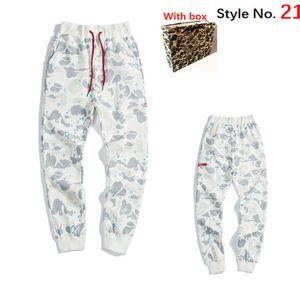 fashion Mens Sport Pants Space Cotton Trousers Men Tracksuit Bottoms Mens Joggers Tech Fleece Camo pants With Box