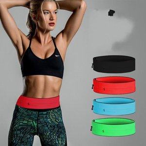 New Running Bag Outdoor Zipper Sports Cycling Jogging Phone Waist Belt Bag Pocket Waistband Gym Yoga Hiking Accessories Unisex 245 X2
