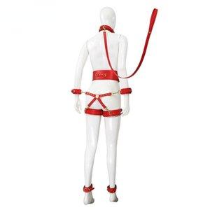 Bondage Ladies Sex Toys Men's SM Erotic Restraint Collar 6 Piece Set Cuffs Belts Connect Adult Couple Games