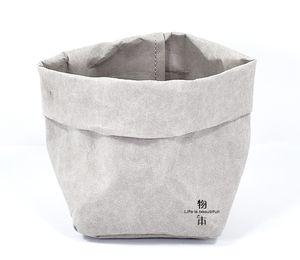 Foldable Pots Kraft Paper Flowerpot Waterproof 4 colors Environmental Protection Planters storage bag Mini Garden Vegetable pouch CCF7168