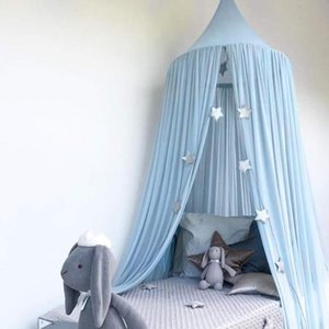 Mosquito Net 5 Colors Hanging Kids Baby Bedding Dome Bed Canopy Princess Cotton Bedcover Curtain For Room Decoration