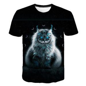 Cool Fashion T Shirt For Men And Women Lovely Two Cats Print 3D T-Shirts Summer Short Sleeve T Shirts Male T Shirts XXS-6XL TC-002