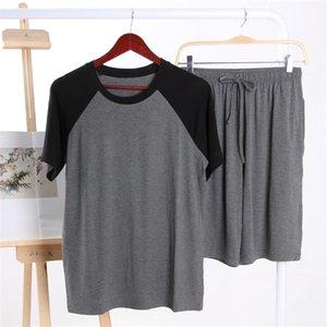 Cotton Pijamas Hombre Plus Size Men Short Sleeve Pajamas Sets Pyjamas Summer Mens Homewear Casual Sleepwear 2020