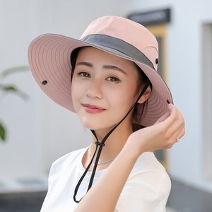 Outdoor Sunshade Hat Fisherman Hat Lady Collapsible Sun Cap Summer Adjustable Foldable Cycling Caps 1258 V2