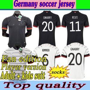Almanya futbol forması2021fans oyuncu fan baskı versiyonu hummels Kroos Gnabry Werner Draxler Reus Muller Gotze Avrupa Kupası Futbol Gömlek Üniforma Erkekler + Çocuk Seti