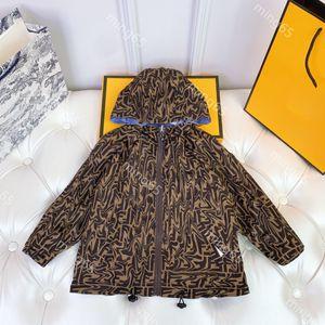 Latest spring Designers Clothes Kids hoodies high-quality boy summer 2021 sunscreen kids jacket double-sided wear children's zipper top