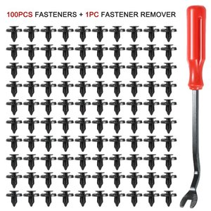 Other Vehicle Tools 100PCS Nylon Push-Type Automotive Clips Rivet Retainer Fender Bumper Fasteners 25mm 35mm With 1PC Fastener Remover