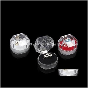 & Drop Delivery 2021 Acrylic Delicate Fashion For Bracelet Pendant Beads Earrings Pins Ring Holder Display Box Jewelry Boxes And Packaging 51