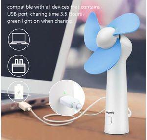 Home Office Gadget USB rechargeable Lucky Fan desktop fans travel student dormitory portable wind-fan Grass Handheld fan recharging air-cooled