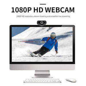 Webcams USB HD 1080P Webcam para computadora portátil Focus Auto Focus Cámara de videollamada de gama alta con reducción de ruido Micrófono Web Cam