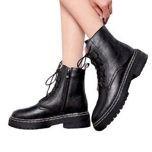 여성 부츠 플랫폼 신발 트리플 블랙 여성 멋진 오토바이 부팅 가죽 신발 트레이너 스포츠 스니커즈 크기 35-40 07
