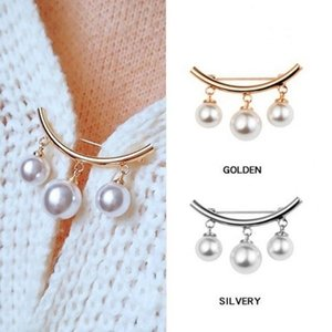 Breastpin 2Pcs Men Faux Pearl Brooches for Women Brooch Pin Dress Suit Jewelry Wedding broche Party Accessories Pins